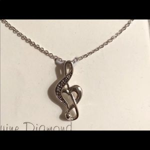 🆕sterling silver music note necklace